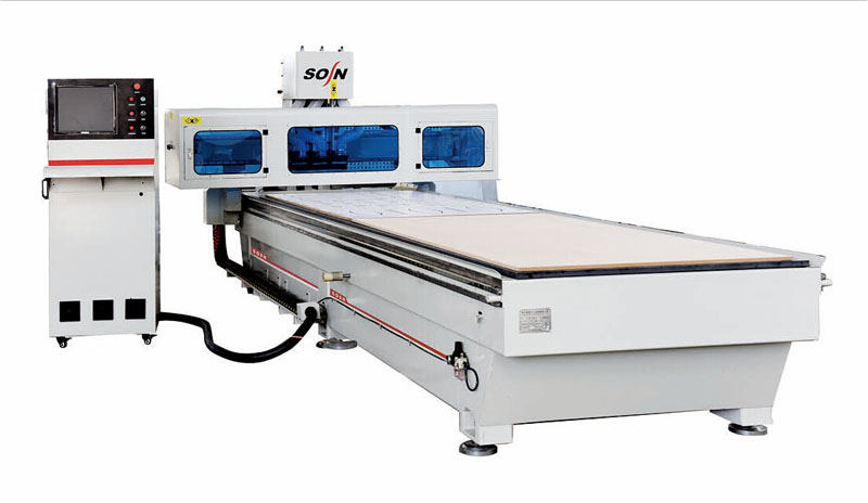 Double working table CNC router SX1350B-3