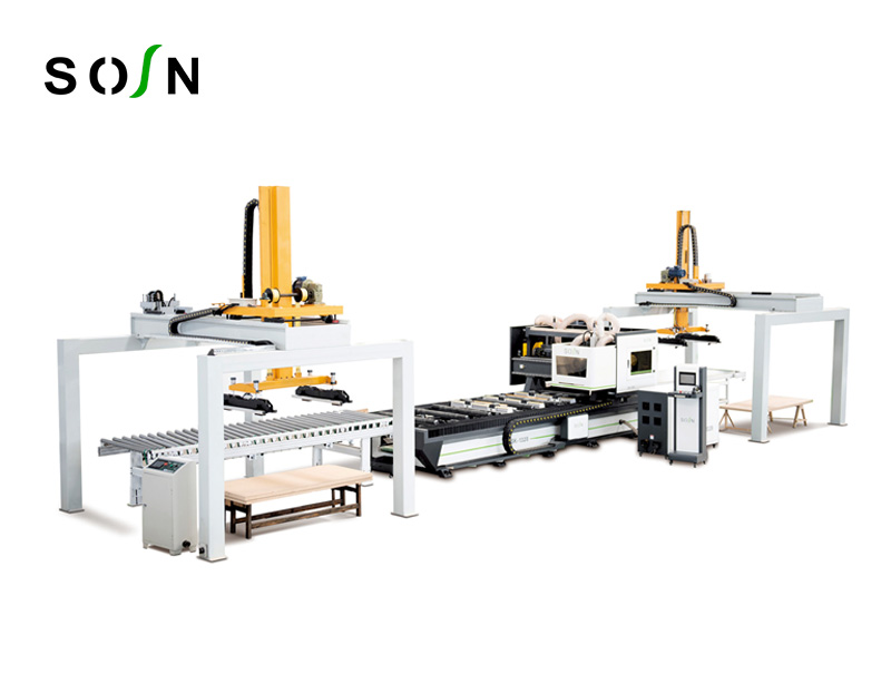 1328-A Single-station CNC Quadrilateral Saw for Upper and Lower Gate Fan